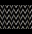 abstract of white zig zag pattern on black vector image
