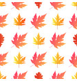 autumn background yellowed maple leaves vector image vector image
