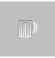 beer mug computer symbol vector image