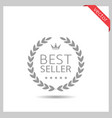 best seller icon vector image vector image