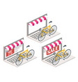 bicycle online 3d isometric vector image vector image