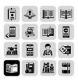 Books Icons Black Set vector image vector image