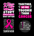 cancer quote and saying set vector image vector image