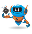 cartoon funny robot vector image vector image