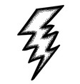 cartoon image of lightning icon bolt symbol vector image vector image