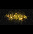 christmas holiday golden glitter firework vector image