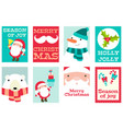 collection of christmas banners with cute animals vector image vector image