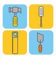 collection under construction tools repair vector image vector image