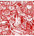 crazy new york red-white pattern vector image vector image