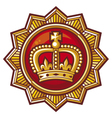 crown badge vector image