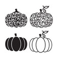 cut out pumpkin decorative set vector image vector image