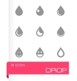 drop icon set vector image