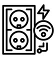 electrical outlet icon outline style vector image