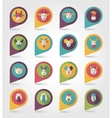 Farm animals mapping pins icons vector image vector image