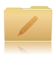 Folder with Pencil vector image vector image