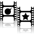 Good and bad movie vector image vector image