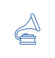 gramophone line icon concept vector image vector image