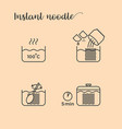 graphic info of cooking noodles vector image vector image
