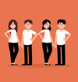 group couple people a happy concept man vector image