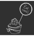hand drawn quote - eat cake vector image vector image