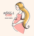 hand drawn sketch beautiful pregnant profile vector image
