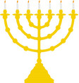 hanukkah candles icon isolated jewish festival of vector image vector image