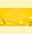 happy birthday banner with balloons confetti ans