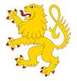 Heraldic lion 27 vector image vector image