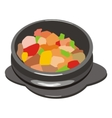 hot pot vector image