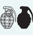 image an manual grenade vector image vector image