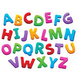 image with alphabet theme 5 vector image vector image