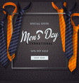 international men s day or father s day vector image