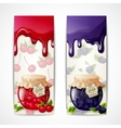 Jam banners vertical vector image vector image