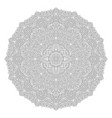 line art for coloring book with round mandala vector image vector image
