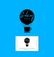 logo sky cafe balloon cup business card identity vector image