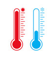 meteorology thermometer vector image