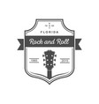 musical logotype rock and roll vector image vector image