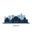 naples skyline monochrome silhouette vector image vector image