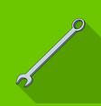 nut wrenchcar single icon in flat style vector image vector image