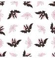 pink bat halloween seamless pattern vector image