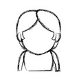 portrait woman character female avatar image vector image vector image