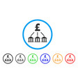 pound bank association rounded icon vector image vector image