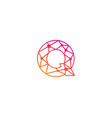 q letter network logo icon design vector image