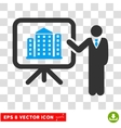 Realty Project Presentation Manager Eps vector image