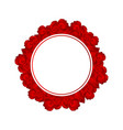 red carnation flower banner wreath vector image