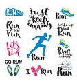 Running labels vector image vector image