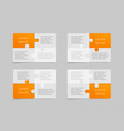 set business card flyer brochure booklet vector image vector image