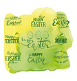 set labels for easter vector image