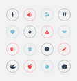 set of 16 editable berry icons includes symbols vector image vector image
