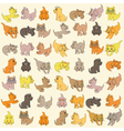 Set Of Kittens Seamless Texture vector image